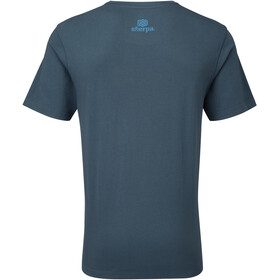 Sherpa Lungta Camiseta Hombre, neelo blue